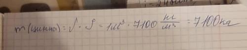 Используя таблицу плотностей веществ, найди массу 1м³ цинка.